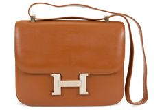 One Kings Lane - Vintage Designer Jewelry  amp  Accessories - Hermès Gold  Constance Designer Bags 78d7b2a64f5fd