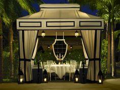 Viceroy Santa Monica Cabana, Pool at Night Outdoor Rooms, Outdoor Dining, Outdoor Gardens, Outdoor Decor, Outdoor Curtains, Backyard Cabana, Outdoor Cabana, Outdoor Pavillion, Backyard Paradise
