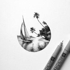 31 Ideas Simple Art Drawings Pencil Pens For 2019 Dotted Drawings, Pencil Art Drawings, Cool Drawings, Art Sketches, Stylo Art, Black Art Tattoo, Tattoo Art, Stippling Art, Desenho Tattoo