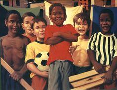 Seleção brasileira Canato (Brasil, 1965) óleo sobre tela, 100x 120 cm