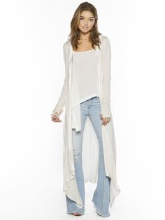 I am Love Boheme Oatmeal Estefania Long Cardigan