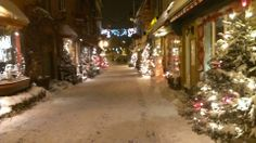 A street of Quebec city in January