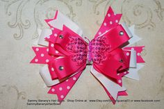 Any color combo can be made.  I adore making these layered bows.  Repin if you love it like I do.  Butterfly Hair Bow by Sammy Banany's Hair Bows  Your by iguania03, $11.99