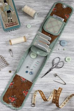 Мини швейный органайзер / Tiny sewing kit - Вечерние посиделки