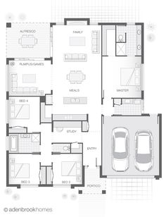 From 241.3m2, 4 Bedrooms, 2 Bathrooms, 2 Car Garage. Modern family living is all about space to come together as a family and space for quiet time apart.