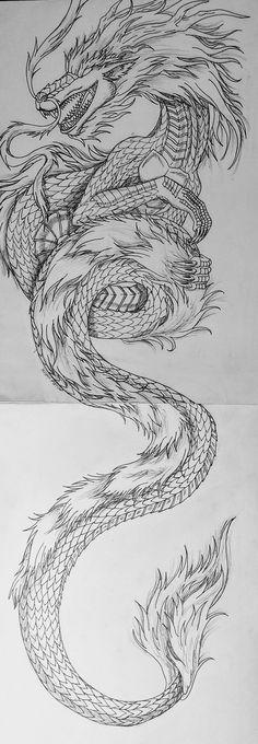 10 Meilleures Images Du Tableau Dragon Chinois Dessin Dragon