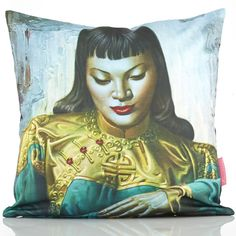 Grab a Lady of the Orient Tretchikoff cushion cover x for that fab friend of yours. South African Design, Cushions, Lady, Cover, Artwork, Artist, Movie Posters, Fictional Characters, Spaces