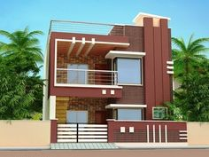 HOUSE PLAN HOUSE PLAN,Floor plan and elevations Is video mein mene house plan (floor plan) uska elevation aur sath hi uska interior design view detail mein bataya he. Bungalow House Design, House Front Design, Small House Design, Cool House Designs, Modern House Design, Door Design, Front Elevation Designs, House Elevation, Building Elevation