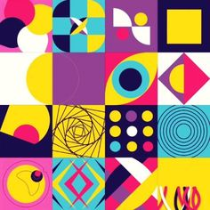 Geometric Shapes Art, Abstract Geometric Art, Geometric Pattern Design, Geometric Poster, Graph Design, Geometric Designs, Vector Design, Small Canvas Art, Event Branding