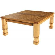 This is one of our most affordable handmade rustic coffee tables.  The sturdy legs and simple lines create an elegance that goes well with any décor.  The unencumbered sides give this Mexican coffee table versatility...place a cloth and candles on the tabletop and cushions on the floor to create a romantic and exotic dining area for two to four people.