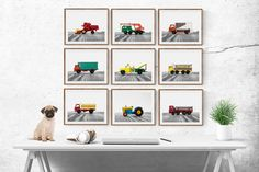 Vintage Matchbox Work Trucks Set of Nine Photo prints Nursery Decor Rustic Decor Toy Cars Baby room ideas Boys Room Decor Rustic Nursery Decor, Baby Boy Room Decor, Baby Boy Rooms, Rustic Decor, Vintage Nursery, Rustic Room, Kids Rooms, Boy Wall Art, Nursery Wall Art