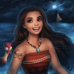 Look at that tatoo! It is mini Maui! Oooooooo CUTE  Pretty Moana  #moana #disney #deviantart