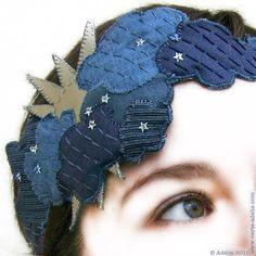 Handmade... cloud and sun headband