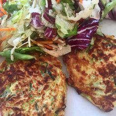 Had zucchini fritters and salad for lunch today it was sooo good!  #fitfam #fitdurch2016 #missiontraumbody #thisismyyear #deinprojekt #projektderwoche #fitnessjourney #fitlife #fitgirls #healthylifestyle #grenzenloserergeiz #teamfitundgesund #powergirlmovement #healthyfood #fitnessfood #healthy #eathealthy #eatcleanforhealth #kaylaitsinesbbg #kaylaitsinesbikinibodyguide #kaylaitsines #kaylasarmy #thekaylamovement #bbggirls #sweatwithkayla #sweatwithkaylaapp #bbgdach #bbgmunich…
