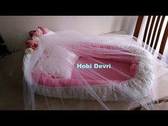 How to make baby nest-Ana kucağı (Babynest), Yastığı ve Tül Korumalığı yapımı- Part 2 - YouTube
