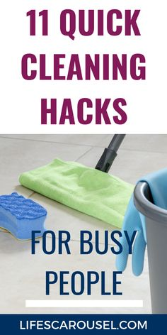 11 Quick Cleaning Tips [For Busy People!] - March 2020 - Tips] Quick Cleaning – Fast cleaning tips for busy people. Learn how you can keep your. Speed Cleaning, Household Cleaning Tips, Household Chores, House Cleaning Tips, Cleaning Hacks, Cleaning Schedules, Cleaning Lists, Weekly Cleaning, Spring Cleaning Organization