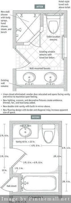 Trendy bathroom small remodel with tub space saving floor plans Ideas