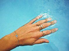 Tidepool Love Stackable rings. LLJ dainty bracelet.