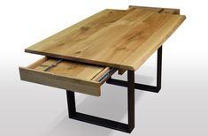 Tisch mit Baaumknte Eiche - Breite 100cm / Länge wählbar Unsere ausziehbaren Esstische sind zum einen hohwertig verarbeitet, als auchaus nur ausgesuchten Hölzern (A Qualität) hergestellt. Wir legen großen Wert...