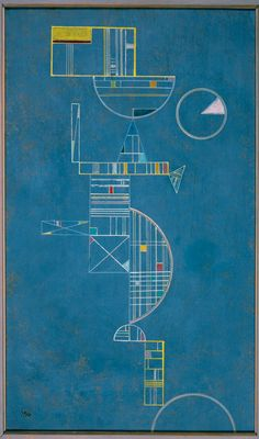 """Wassily Kandinsky (1866-1944) - """"Flowing (Coulant)"""" {1931}"""