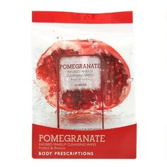 Pomegranate, Infused Makeup Cleansing Wipes, 33 Count by Body Prescriptions, http://www.amazon.com/dp/B00EA4MO38/ref=cm_sw_r_pi_dp_eZMCsb0S19QFK
