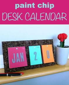 Make a calendar you can over and over, every year!