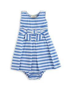 kate spade new york Infant Girls' Stripe Jillian Dress & Bloomers Set - Sizes 6-24 Months | Bloomingdale's