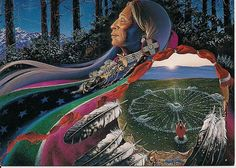 The medicine is within you. The connection to the great mystery is within you. Look no further (Art: Charles Frizzell)