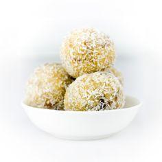 White Chocolate & Coconut Protein Balls
