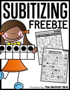 Free Subitizing Sampler Packet! Build number sense for Preschool and Kindergarten in a fun, hands-on way! Set a strong foundation for future math fluency!