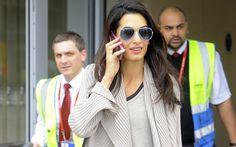 George Clooney's Bride Showed Engagement Ring #GeorgeClooney, #AmalAlamuddin, #celebrities