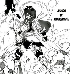 Fairy Tail | Erza Scarlet in Nakagami Armor (Chapter 321) ☆△☆