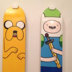 Finn and Jake skateboard decks @ Mondo Gallery in Austin.
