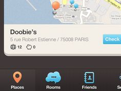 Dribbble - New iPhone app design | Map UI,UX interface by Julien Renvoye