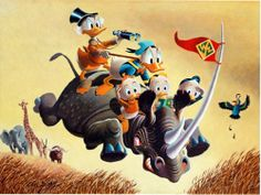 Far Out Safari by Carl Barks (1994) at the Illustration Art Gallery