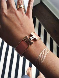 rose gold H bracelet