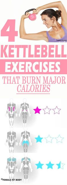 4 Kettlebell Exercises That Burn Major Calories Workout | Posted by: CustomWeightLossProgram.com