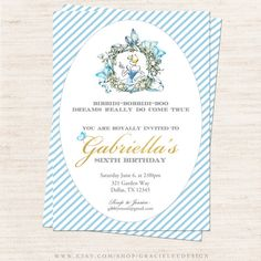 Hey, I found this really awesome Etsy listing at https://www.etsy.com/listing/225348640/cinderella-birthday-party-invitation