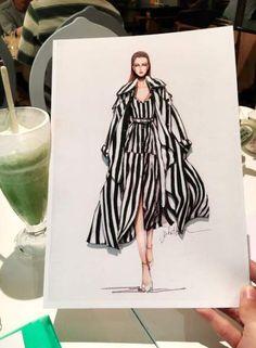 Ideas Fashion Sketchbook Textiles For 2019 Fashion Figure Drawing, Fashion Drawing Dresses, Fashion Illustration Dresses, Fashion Illustrations, Drawing Fashion, Fashion Illustration Tutorial, Dress Design Sketches, Fashion Design Drawings, Fashion Sketches