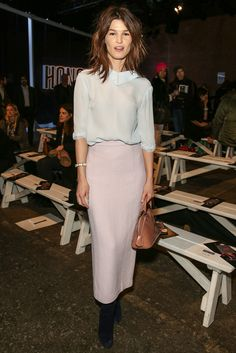 Hanneli Mustaparta attends the Honor fashion show during Mercedes-Benz Fashion Week Fall 2014 at Eyebeam on February 10, 2014 in New York City.