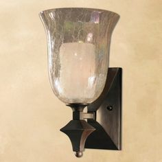 Save everyday on Uttermost elba 1 light crackled glass wall sconce, rustic cottage decor and kitchen furniture. Shop Outrageous Interiors and find the perfect designer modern furniture for your dream home. Uttermost Lighting, Wall Sconce Lighting, Bungalow Decor, Traditional Wall Sconces, High Walls, Tuscan Decorating, Crackle Glass, Lamp Light, Elba