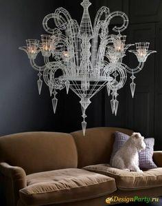 Abigail Ahern. Neo-baroque chandelier.