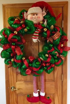 Hey, I found this really awesome Etsy listing at https://www.etsy.com/listing/209082612/christmas-elf-wreath