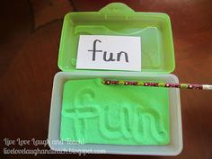 ents enjoy it... Writing in the sand is so fun and relaxing. Students really like it. To make one sand writing box will need a plastic pe...