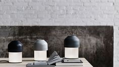 Volume lamp in grey and blue from lightyears designed by GamFratesi Lightyear is part of Republic of Fritz Hansen