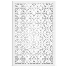 Acurio Latticeworks Fret 32 in. x 4 ft. White Vinyl Decorative Screen Panel-3248PVC-W-FRT - The Home Depot Fence Panels, Window Panels, Curtain Panels, Plastic Lattice, Small Parts Organizer, Decorative Screen Panels, Privacy Shades, Shade Screen, Fabric Roman Shades
