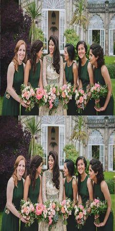 Bateau A-line Emerald_green Bridesmaid Dresses,Cheap Bridesmaid Dresses,WGY0366#bridesmaids #bridesmaiddress #bridesmaiddresses #dressesformaidofhonor #weddingparty #2020bridesmaiddresses Emerald Green Bridesmaid Dresses, Burgundy Bridesmaid Dresses, Beautiful Bridesmaid Dresses, Nice Dresses, Wedding Dresses, Bridesmaids, Prom Dresses, Long Dresses, Beautiful Dresses
