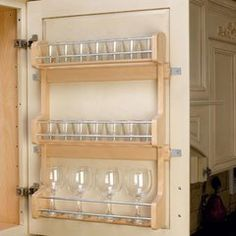"""Rev-A-Shelf Door Mount Spice Rack 21""""- Wood 4SR-21"""