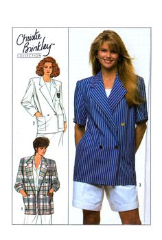 80s Simplicity 9103 Christie Brinkley by patternscentral on Etsy