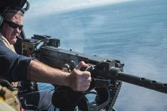 Above you can see a U. Marine engaging a simulated enemy boat in the Pacific Ocean with a Minigun. The rotor is a Bell Venom and all pictures are taken by U. Fire Training, Military Weapons, Pacific Ocean, Marine Corps, All Pictures, Marines, Guns, Boat, History